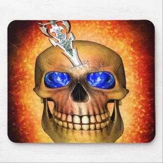 Sword pierced skull mouse pad