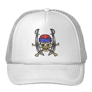 Sword Swinging Pirate Skull 2 Cap