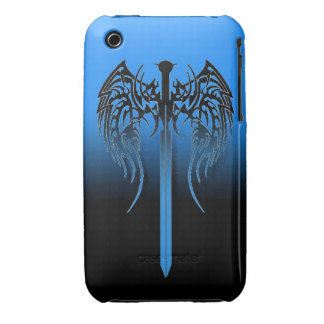 Sword with wings cool tribal art design awesome ta Case-Mate iPhone 3 case