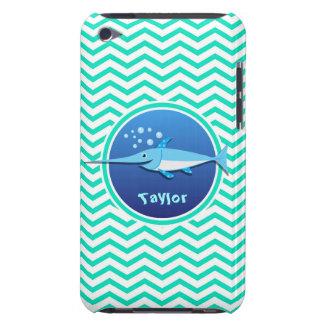 Swordfish Aqua Green Chevron Barely There iPod Case