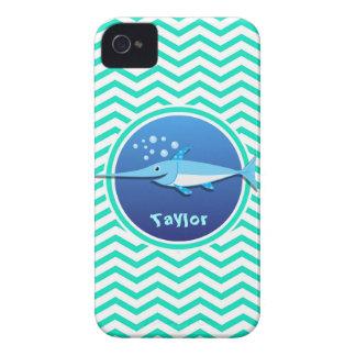 Swordfish Aqua Green Chevron Case-Mate iPhone 4 Cases