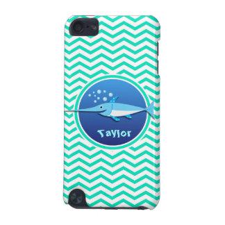 Swordfish Aqua Green Chevron iPod Touch 5G Cases