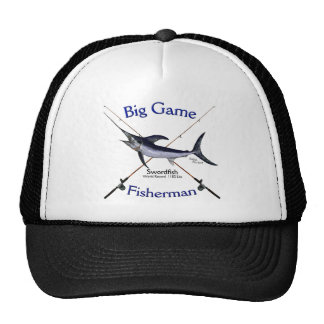 Swordfish big game fisherman tshirt cap