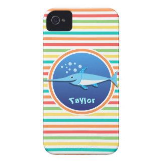 Swordfish Bright Rainbow Stripes iPhone 4 Covers