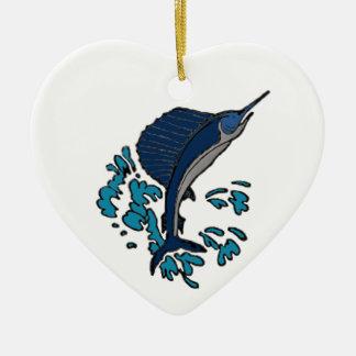 Swordfish Ceramic Ornament