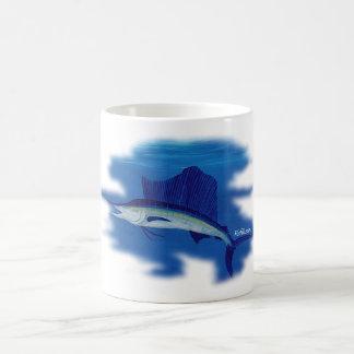 Swordfish on the prowl coffee mugs