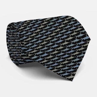 Swordfish Tie Armani Gray Black Tie
