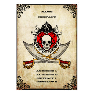 Swords and Heart - Business Card Business Card Template