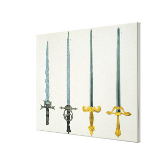 Swords, plate from 'A History of the Development a Stretched Canvas Print
