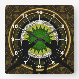 Swordsmen Square Wall Clock
