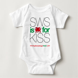 SWS is the Welsh for Kiss! Baby Bodysuit
