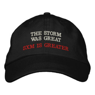 SXM IS GREATER EMBROIDERED HAT
