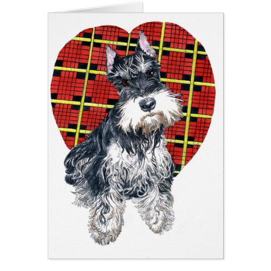 Sybil the Schnauzer Greeting card
