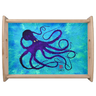 Sybille's Octopus - Large Serving Tray
