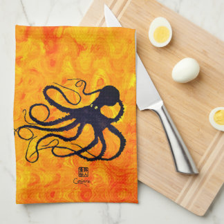Sybille's Octopus On Fire - Kitchen Towel
