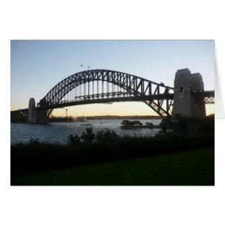 syd bridge greeting card