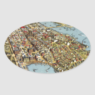 Sydney 1888 oval sticker