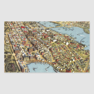 Sydney 1888 rectangular sticker