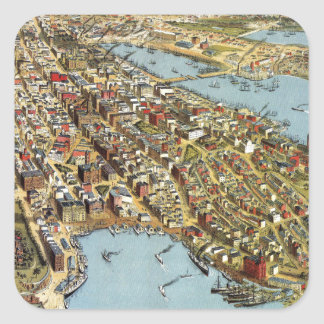 Sydney 1888 square sticker