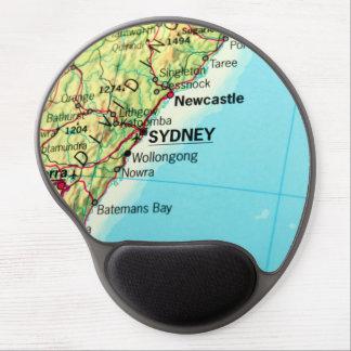 Sydney, Australia City Map Gel Mouse Pad