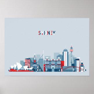 Sydney Australia City Skyline Poster