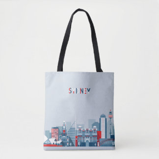 Sydney Australia City Skyline Tote Bag