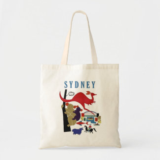 Sydney Australia Cute Fun Travel Souvenir Tote Bag