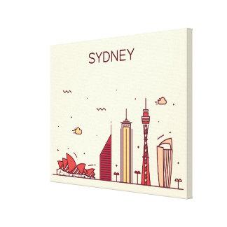 Sydney, Australia | Doodle Skyline Canvas Print