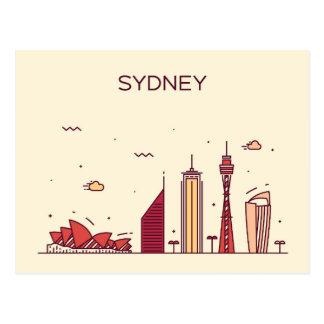 Sydney, Australia | Doodle Skyline Postcard