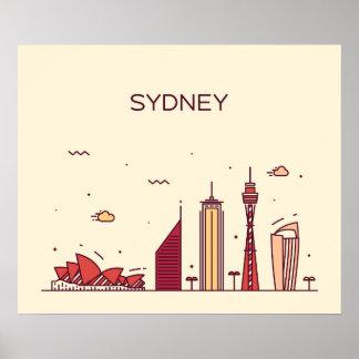 Sydney, Australia | Doodle Skyline Poster