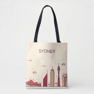 Sydney, Australia | Doodle Skyline Tote Bag