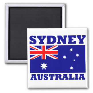 Sydney Australia Flag Square Magnet