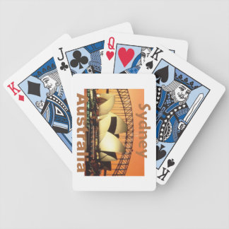 SYDNEY Australia Bicycle Poker Deck