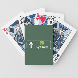 Sydney, Australia Road Sign Playing Cards