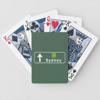 Sydney, Australia Road Sign Poker Deck