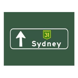 Sydney, Australia Road Sign Postcard