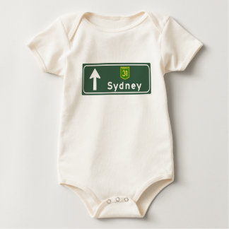 Sydney, Australia Road Sign Baby Bodysuit