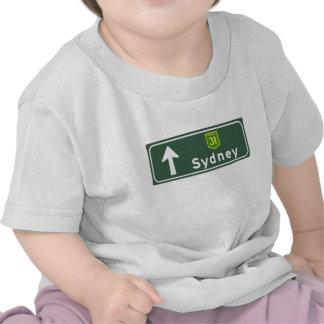 Sydney, Australia Road Sign Tshirt