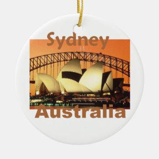 SYDNEY Australia Round Ceramic Decoration
