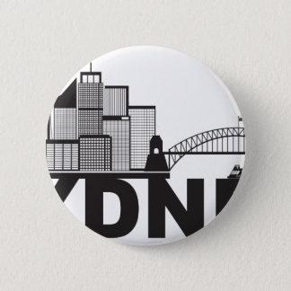 Sydney Australia Sklyine Text Outline 6 Cm Round Badge