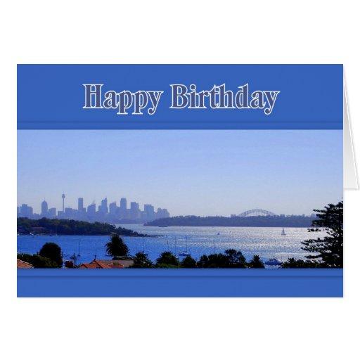 Sydney, Australia, Skyline Happy Birthday