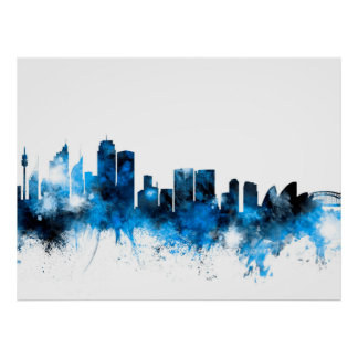 city skyline posters from Zazzle