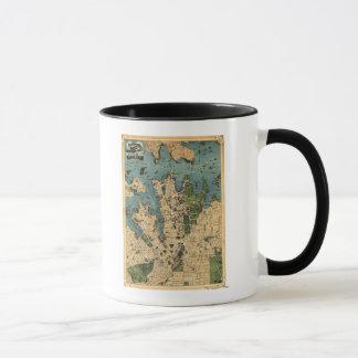 Sydney, AustraliaPanoramic Map Mug