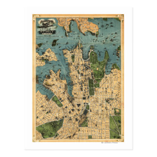 Sydney, AustraliaPanoramic Map Postcard