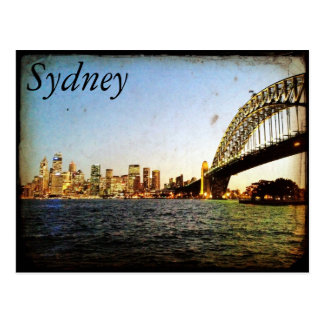 sydney bridge classic postcards