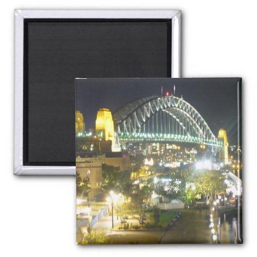 sydney bridge night magnets