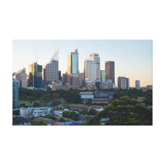 Sydney Business Center Skyscrapers Canvas Print
