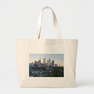 Sydney Business Center Skyscrapers Large Tote Bag