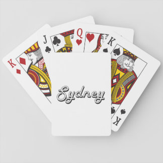 Sydney Classic Retro Name Design Poker Cards
