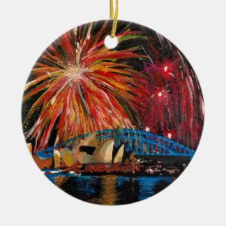 Sydney Firework at Opera House Ceramic Ornament
